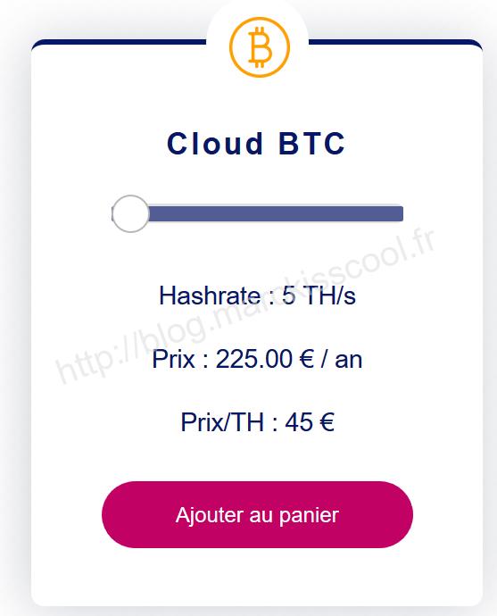 offre cloud btc feel mining